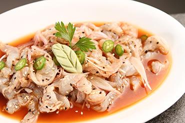 Ceviche japones de camarón